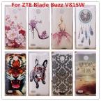 Для ZTE Blade Buzz V815w Случае, Роскошные Кристалла Алмаза 3D Bling твердый Переплет Пластиковый Корпус Для ZTE Blade Buzz V815w V815 случае