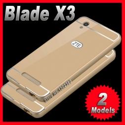 Zte blade x3 чехол d2 тонкий алюминиевый Роскошные zte blade случае x3 d2 Телефон Металлический Каркас Акриловая Задняя Крышка Для zte x3 случае крышка