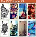 Для ZTE Blade X3 тпу чехол Блестящий и Дизайн Стенда горячие Продажи Цветные Живопись Жесткий мобильный телефон ТПУ случае Бесплатная Доставка