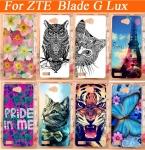 Телефон чехол, 14 узоры окрашенный живопись цветы животные чехол для лезвие G Lux чехол чехол для лезвие G Lux