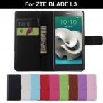 Телефон чехол ZTE лезвие L3 кожа, личи Nexture полиуретан для мульт-цвет функция перевёрнутый защитное чехол раковина для L 3