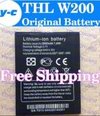 THL w200 Батареи 100 percent   Оригинальный 2000 мАч Литий-ионный Аккумулятор для THL W200 w200s W200C Смарт-Мобильный телефон В Наличии
