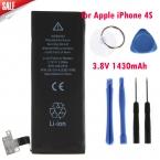Подлинная Замена Литий-Полимерный Аккумулятор 3.8 В 1430 мАч для Apple iPhone 4S 4 Г     8 шт. Инструменты Batterie Batterij Bateria