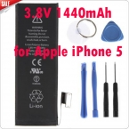Новые Подлинная Замена Батареи 3.8 В 1440 мАч  Внутренняя встроенный Литий-Ионный Аккумулятор для Apple iPhone 5   Комплект инструменты