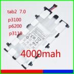 Sp4960c3b ( 14.8Wh ) 4000 мАч новый оригинальный замена аккумулятор для Samsung Galaxy Tab 2 7.0 P3100 P6200 P3110 Galaxy Tab 7.0 плюс