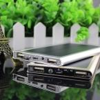 НОВЫЙ Бренд 12000 мАч Portable solar power bank Марка Powerbank резервного Питания аккумулятор Зарядное устройство Рождественский подарок