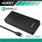 Aukey быстрая зарядка 2.0 10000 мАч портативный внешнее зарядное устройство ( 20 Вт / 5 В 9 В 12 В быстрое зарядное устройство зарядное устройство для смартфонов