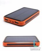 10000 мАч Dual usb Водонепроницаемый солнечной энергии банк PowerCore bateria externa Портативное солнечное зарядное устройство powerbank для xaomi мобильного телефона