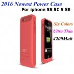 4200 мАч Питания Чехол Для iPhone 5S 5 5C SE 5 Г Bateria резервное копирование Портативный Банк силы Внешняя Батарея Зарядное Устройство Чехол Для iphone SE