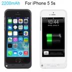 Полный 2200 мАч Внешних банка Мощность дело pack резервного Заряда батареи чехол для iPhone 5 5s с USB кабель зарядного устройства линии