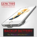 Ультратонкий внешняя Батарея чехол для iPhone6 случае 6 s Зарядное Устройство Резервного Копирования Чехол для iPhone6 Plus 6 s плюс Банк силы Батареи случае