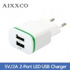 5 В 2А ЕС Plug Свет 2 USB Адаптер Мобильного Телефона Зарядное зарядное Устройство Micro Данных Зарядки Для iPhone 5 6 iPad Samsung Оптовая