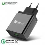 Ugreen для Qualcomm Быстрое Зарядное Устройство 2.0 18 Вт 1 Порта Зарядное USB быстрое Зарядное Устройство для Samsung S6 Xiaomi для Sony QC2.0 Совместимо для lg