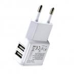 5 В 1.0A 2.0A ЕС США Штекер Двойной Двойной USB Универсальный Телефон, Зарядное Устройство ПЕРЕМЕННОГО ТОКА Зарядное Устройство для Главная Путешествия для Iphone 6 s для Samsung