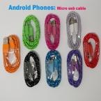 Нейлон Micro usb Зарядное Устройство Кабель синхронизации данных Шнур для Samsung S6 S7 края S4 S3 Примечание 2 4 5 HTC XiaoMi Huawei LG Lenovo Sony Nokia