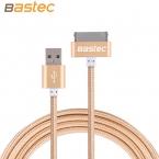 Bastec Оригинальный 30 pin Металла plug Нейлон Плетеный Синхронизации Данных USB кабель для iphone 4 4S iPad 2 3 с Розничной Коробке