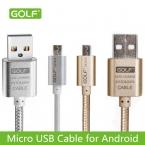 Гольф Кабель Micro Usb 2.1A 1 М 1.5 М 2 М 3 М Металл Плетеный Провод 2.0 Синхронизации Данных Зарядный Кабель для Передачи Данных Выход Для Samsung Galaxy S3 S4