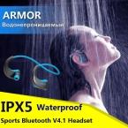ДАКОМ Броня IPX5 Водонепроницаемый Спорт Гарнитура Беспроводная Bluetooth V4.1 Наушники Ухо-крюк Запуск Наушники с Микрофоном Музыка Играет