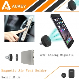Aukey 360 град. универсальный автомобильный держатель магнитный вентиляционное отверстие смартфона док держатель мобильного телефона, Держатель сотового телефона стоит