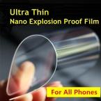0.05 мм Нано-Экран Протектор 100 percent  Лучше, чем Закаленного Стекла Для iPhone 6 6 s 6 плюс 5 5S 4 Samsung Galaxy S4 S5 S6 Note3 4 5 и т. д.