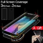 Полное Покрытие Экрана Протектор для Samsung Galaxy S6 Edge S7 Edge Screen Protector ТПУ Пленка Экрана 3 Передняя   2 Назад   1 Телефон случае
