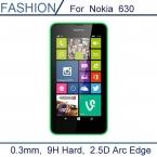 0.3 мм Закаленное Стекло для Nokia Lumia 630 9 H Жесткий 2.5D Дуги Край Ультра Тонкий Экран Протектор с чистые инструменты