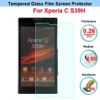 Высокое качество закаленное стекло anti-поколебать экран протектор для Sony Xperia C S39h C2305 фильм