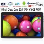 Оригинальный 10 дюймов WiFi GPS fm-bluetooth 2 г   16 г таблетки пк встроенный 3 г телефонный звонок андроид четырехъядерных процессоров андроид 4.4 2 ГБ оперативной памяти 16 ГБ ROM