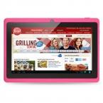 7 дюймов Tablet PC Android 4.4 Google A33 Четырехъядерный процессор 1 Г-16 ГБ Bluetooth Wi-Fi FlashTablet ПК android tablet 1 ГБ 16 ГБ розовые таблетки