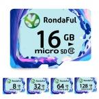 Rondaful карта micro sd TF карта 32 ГБ класс 10 Реальная емкость 8 ГБ 16 ГБ 32 ГБ 64 ГБ 128 ГБ карты памяти для Телефонов/Таблетки/Камеры