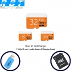 КРОЛИК Реальная Емкость Высокоскоростной Оранжевый Подарок 8 ГБ 16 ГБ 32 ГБ Карта памяти TF Карта Micro SD Card Pass H2test Бесплатная Доставка