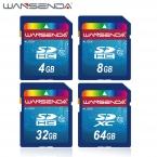100 percent  Реальная Емкость WANSENDA SD Card 32 ГБ 64 ГБ Карты Памяти 16 ГБ 8 ГБ 4 ГБ SDHC SDXC флэш-Карты Памяти H2testw Тест