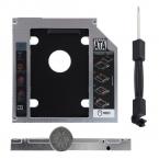 Универсальный Алюминиевый SATA 12.7 мм SATA Hdd SSD Жесткий Диск Caddy Оптический DVD Bay Адаптер