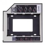 9.5 мм Универсальный SATA второй HDD SSD Жесткий Диск Caddy для CD/DVD-ROM Оптический Bay YKS