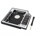 """1 шт. универсальный 2.5 """" 2-й 12.7 мм SSD Sata к Sata жесткий диск HDD кэдди адаптер Bay внешний 3.0 чехол корпус для dvd-ноутбука"""