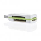 В наличии 1 шт. USB 2.0 4 в 1 Памяти Multi Card Reader для M2 SD SDHC DV Micro SD TF Карта зеленый Бесплатный/Drop Доставка