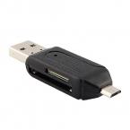 2 в 1 USB OTG микро-карточка USB OTG TF / SD кард-ридер телефон расширение заголовки флэш-накопитель для смартфона компьютер