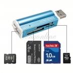 Все в 1 USB 2.0 Multi чтения карт памяти адаптер для микро SD MMC SDHC микро-tf m2-жа памяти MS Duo RS-MMC Packag