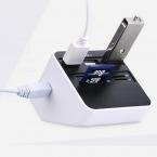 Мульти 7 В 1 USB 2.0 Card Reader 3 USB SD MS М2 TF Внешний Адаптер Combo Высокая Скорость и Высокое Качество 90 см Кабель