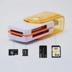4in1 USB 2.0 High Speed Многофункциональный Все В 1 ГОДУ MS M2 SDHC TF MMC Micro SD U-Flash Memory Card Reader (1 Шт., случайный Цвет)