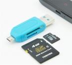 1 шт. бесплатная доставка универсальное устройство чтения карт мобильного телефона пк микро-карточка USB кард-otg карты OTG TF / SD флэш-памяти оптовая продажа