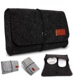 Бренд цифровое хранение, Шерстяного войлока сумка для Macbook air ноутбук адаптироваться и мышь чехол, 4 цветов, Оптовая продажа, Бесплатная прямая поставка