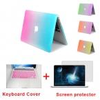 Мода радуга жесткий протектор чехол для MacBook Air 11 Pro 13 / 15 дюймов с нью-retina   розовая клавиатура покрытия бесплатная доставка