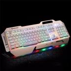 Механическая Клавиатура Со СВЕТОДИОДНОЙ Подсветкой USB Проводная Игры keyborad Переключатели Gaming