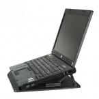 Эргономичный настраиваемый кулер, охлаждающая подставка для ноутбука с  фиксатором (цвет:чёрный)
