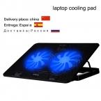 Охлаждающие подставки для ноутбука интерфейс USB подставка для ноутбука notebook cooler стенд охлаждающая подставка для ноутбука радиатор Два больших вентилятора Высокое качество