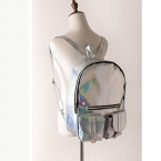 Mochila Masculina рюкзак Женщины Серебряный Голограмма Лазерная Рюкзак мужская Сумка кожа Голографические Рюкзак Многоцветный