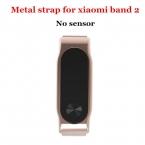 Mijobs Xiaomi Mi Группа 2 Металлический Ремешок Безвинтовое Нержавеющей Стали Браслет Для MiBand 2 Браслет Заменить Аксессуары Умный браслет