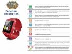 Смарт-u Смотреть Наручные Часы Bluetooth SmartWatch U8 с Шагомер Сообщение SMS Синхронизация Наберите Ответ На Вызов Напоминание Удаленной Камеры России