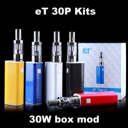 Электронная сигарета ECT eT 30P набор, 30 Вт, современный бокс, электронные сигареты, испаритель, современная электронная сигарета, электронный кальян, стартовый набор, E дым, X9034